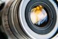 Photo : Camera lens  bright