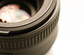 Camera lens closeup shot of a Stock Photo