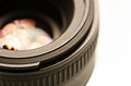 Camera lens closeup shot of a Royalty Free Stock Photo