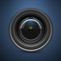 Camera lens this is file of eps format Stock Image