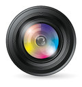 Camera lens icon vector app with blends and transparents Stock Photography