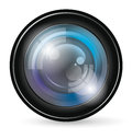 Camera lens icon vector app with blends and transparents Royalty Free Stock Photos