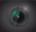 Camera lens illustration design over a black background Stock Images