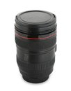 Camera lens isolated on the white Stock Photos