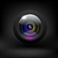 Camera lens. Vector Royalty Free Stock Photo