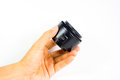Camera lens on a white background Royalty Free Stock Photo