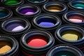 Camera lenses photography theme background of Stock Image