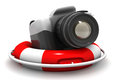 Camera with life buoy d illustration of Royalty Free Stock Image