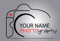 Camera logo ai illustrator vector graphic attached Stock Photos