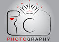 Camera logo crown photography ai illustrator vector graphic attached Royalty Free Stock Photo