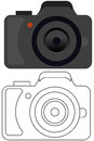 Camera logo vector illustration of digital Stock Images