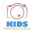 Camera logo vector isolated on white background ai file also available image contain words kids photography in kids color pink Stock Photo