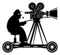 Camera man on white background Royalty Free Stock Photography