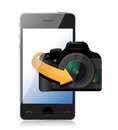 Camera phone app illustration design over a white background Royalty Free Stock Image