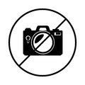 Camera photographic denied isolated icon