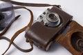 Camera with photographic film retro Royalty Free Stock Photos