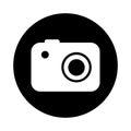 Camera photographic isolated icon