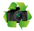 Camera recycle concept illustration design over a white background Royalty Free Stock Images
