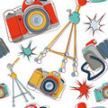 Camera seamless pattern Stock Images