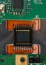 Camera sensor with microchip