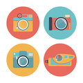Camera set pastel icon old film Royalty Free Stock Photo