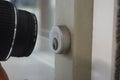 Camera shooting door lock Royalty Free Stock Photo