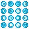 Camera shutter icon blue Royalty Free Stock Photo