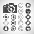 Camera shutter icon set, vector eps10 Royalty Free Stock Photo