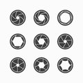 Camera shutter icons set of Royalty Free Stock Photo
