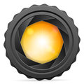 Camera shutter with sunspot Royalty Free Stock Photo