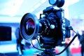 Camera on Tripod Royalty Free Stock Photo