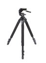 Camera tripod nobody on a white background Royalty Free Stock Images
