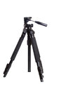 Camera tripod with white background isolated Stock Image