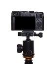 Camera on a tripod Royalty Free Stock Photo