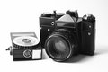 Camera ussr vintage film and expo Stock Photos