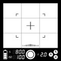 Camera viewfinder vector electronic with grid and focusing point Stock Images