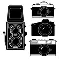 Camera vintage camera vector and set isolate on white Royalty Free Stock Photo