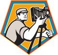 Cameraman Vintage Movie Film Camera Crest Retro