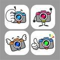 Cameras Mascot Royalty Free Stock Photo