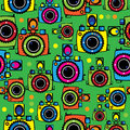 Cameras multicolor seamless pattern Royalty Free Stock Images