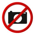 Cameras not allowed Royalty Free Stock Photos