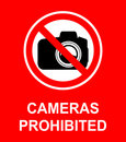 Cameras Prohibited Sign Royalty Free Stock Photo