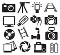 Cameras set Stock Photography