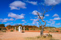 Cameron corner post where nsw qld and sa join in outback australia Stock Photo