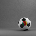 Cameroon soccer ball cameroonian in front of plaster wall Stock Photos