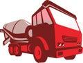 Camión lorry retro style del cemento Imagen de archivo libre de regalías