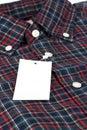 Camicia controllata rossa del reticolo Fotografia Stock