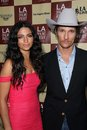 Camila alves matthew mcconaughey at the bernie world premiere at the la film festival opening night regal cinemas los angeles ca Royalty Free Stock Photos