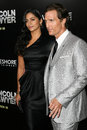 Camila alves matthew mcconaughey and at the lincoln lawyer los angeles screening arclight theater hollywood ca Stock Photography