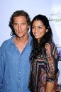 Camila alves matthew mcconaughey and at the los angeles premiere of surfer dude malibu cinemas malibu ca Stock Photography